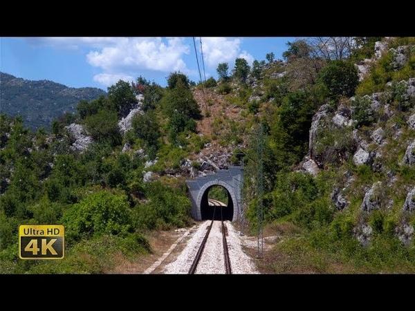 4K CABVIEW Podgorica - Niksic -- Montenegro Railways -- Pruga Podgorica - Nikšić