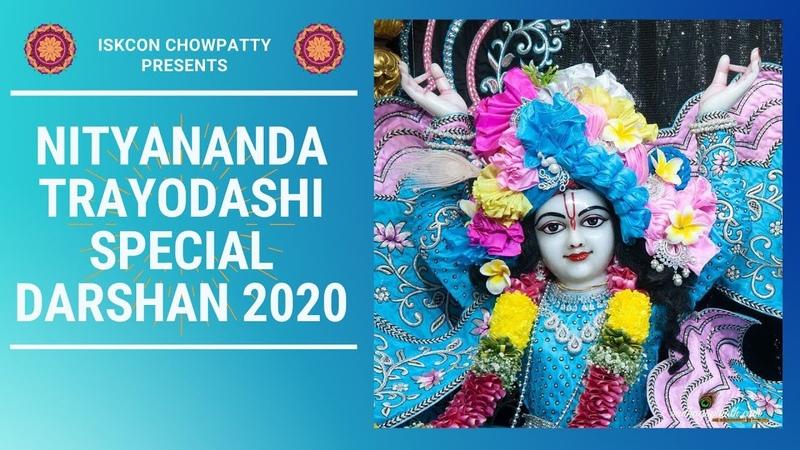 Nityananda Trayodashi Festival Special Darshan New Deity Outfits 07 02 2020 ISKCON Chowpatty