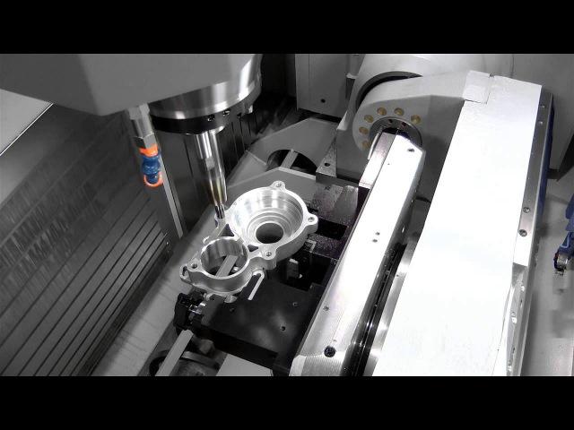 крепление заготовок с помощью гидравлической зажимной оснастки Roemheld станок CHIRON MILL800