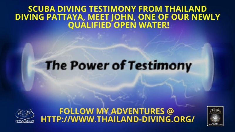 🦀Scuba diving testimony from Thailand Diving Pattaya Meet john one of new qualified open Waterr