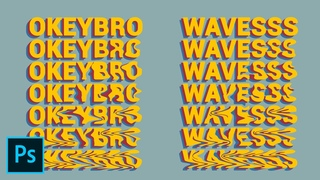 Retro Waves Text Effect in Photoshop - Tutorial Photoshop CC 2020