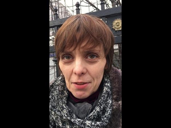 23 03 2019 Мария Рябикова в одиночном пикете в защиту Свидетелей Иеговы