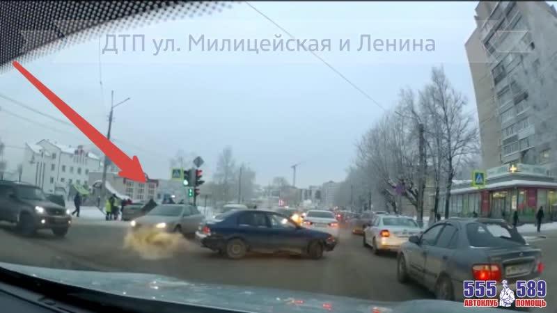 авария с пострадавшими Милицейская и Ленина mp4