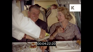 Luxury Plane Food, 1950s First Class Flight, HD