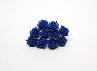 Розы 2 см - синие  1 шт - 14 руб  диаметр розы 2 см высота цветка 1 см длина стебелька 7 см