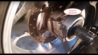 Belt Change on a BMW F800 ST and Eccentric Adjustment
