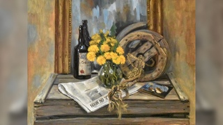 Still life with dandelions - Guelazonia - Oil Painting