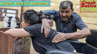 Angry Asim VS Anindita - Crack Battle | Head massage with Ear, Hair, Neck Cracking | ASMR