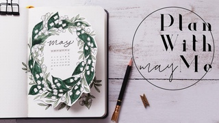 Plan With Me | May Bullet Journal Lily of the Valley