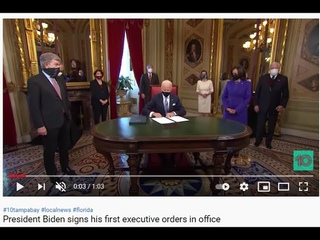 то самое видео  President Biden signs his first executive orders in office  51952