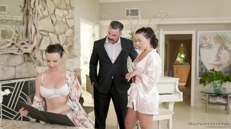 Dana De Armond, Whitney Wright Showered With Affection Fantasy Massage. HD1080, Big Ass, Brunette, Massage,