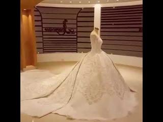 Spectacular Wedding Dresses丨Luxury Wedding Dresses丨Royal Train Wedding Dresses