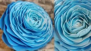 Большой РАНУНКУЛЮС из изолона, ростовые цветы, лютик, как сделать середину, основу ростового цветка