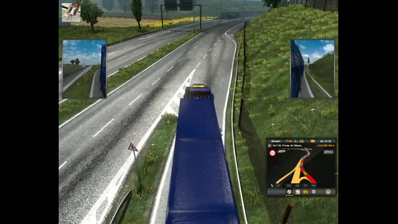 174 Euro Truck Simulator 2 ONLINE 47 Ольга Дальнобоищик Берлин Монпелье 10 10 2020 1498 км