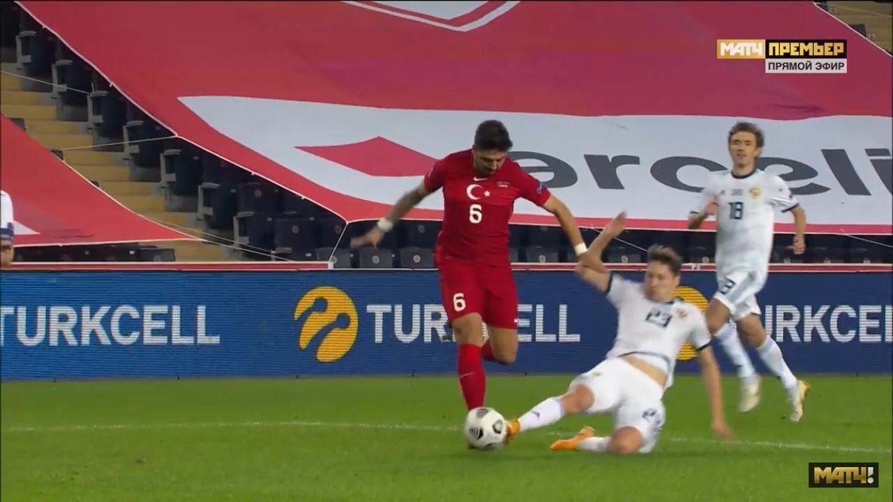 Турция - Россия, 3:2. Лига Наций. Эпизод с назначением пенальти