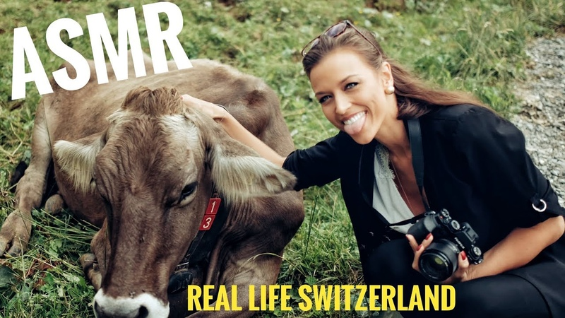 ASMR Gina Carla 🇨🇭🐄 Swiss Triggers Cows Mountains Lakes Soft Spoken