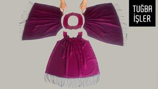 Kullanılmayan Şaldan Bebek Elbisesi Kesimi ve Dikimi (Baby Frock Cutting and Stitching) Tuğba İşler