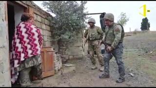 Армянская женщина- ДОБРО ПОЖАЛОВАТЬ К СЕБЕ ДОМОЙ! Азербайджанские солдаты на  освобожденных землях.