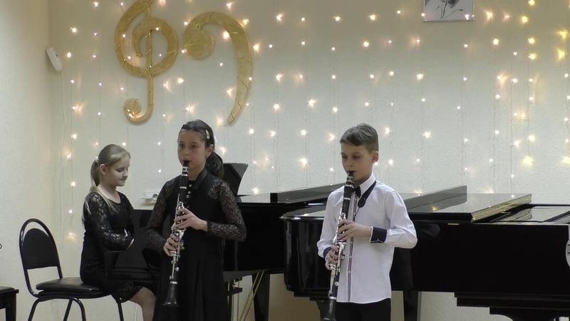 Трио Шканова - Бикин - Кулыгина на конкурсе им. Молчанова. К. Караев Павана