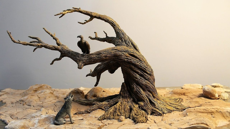 How to Make a Dead Tree Diorama Driftwood