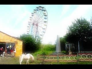 Вид на парк аттракционов в Мурманске 90-х