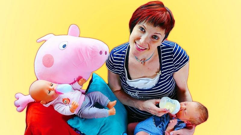 Como fazer o bebê parar de chorar Peppa Pig e Baby Born em português Escola para mamães