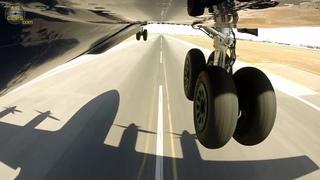 Massive Antonov 12 Takeoff from Valencia, OUTBOARD GEAR CAM!!! [AirClips]