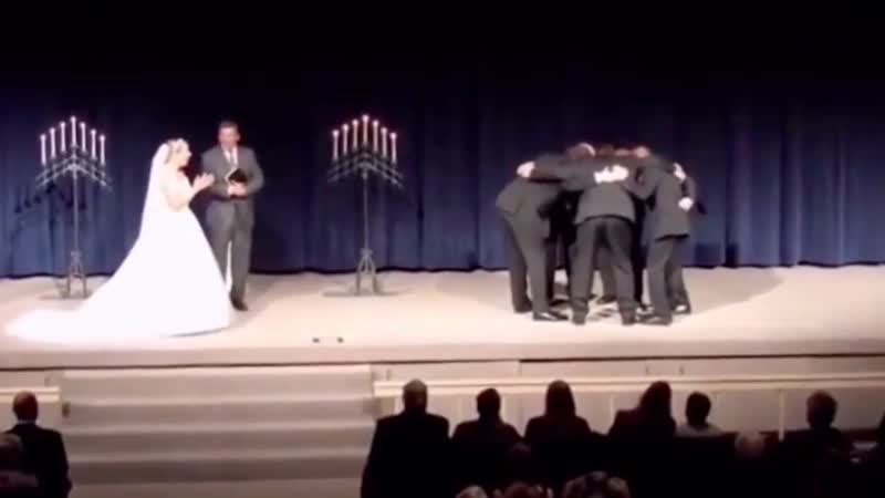 Groom pulls prank midway through wedding vows and it's really dividing opinion Mirror