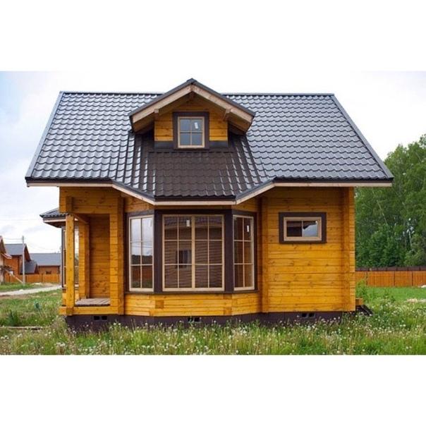 картинки домов из дерева с эркером девушек