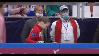 Александра Трусова, Евгений Плющенко, Дмитрий Михайлов перед КП II этап кубка России
