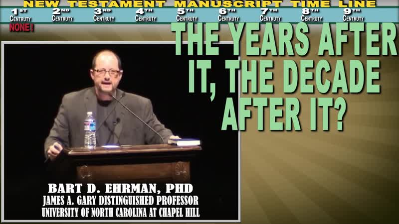 Are Original Manuscripts Of Bible New Testament Lost Bart Ehrman Vs Christian Apologists part 3 4