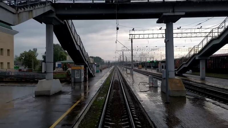 Участок Лудзя о п 5 км с хвостового окна поезда бонус