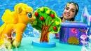 Литл пони и Русалка - Игры для девочек - Волшебный сундук Русалочки для пони Эпл Джек