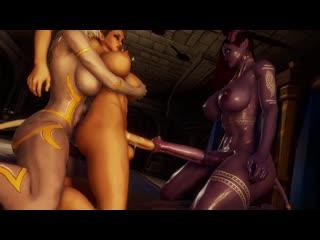 World of Warcraft WoW Sound futanari futa 3D фута big dick cum big tits anal 3d porn хентай hentai Shemale Sissy bimbo