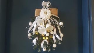 DIY Christmas swag , новогодний декор на дверь (венок) ,botín de navidad,bożonarodzeniowy łup
