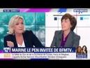 Marine Le Pen face à une salariée du milliardaire (à crédit) Drahi 08 05