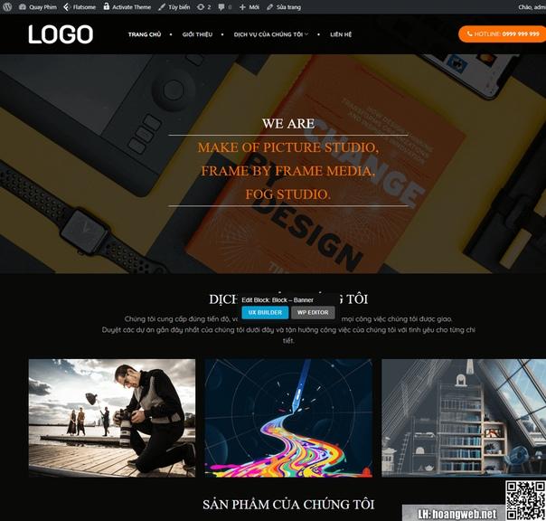 Mẫu web dịch vụ quay phim thumbnail
