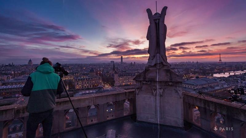 Вид с башни Сен Жак в Париже