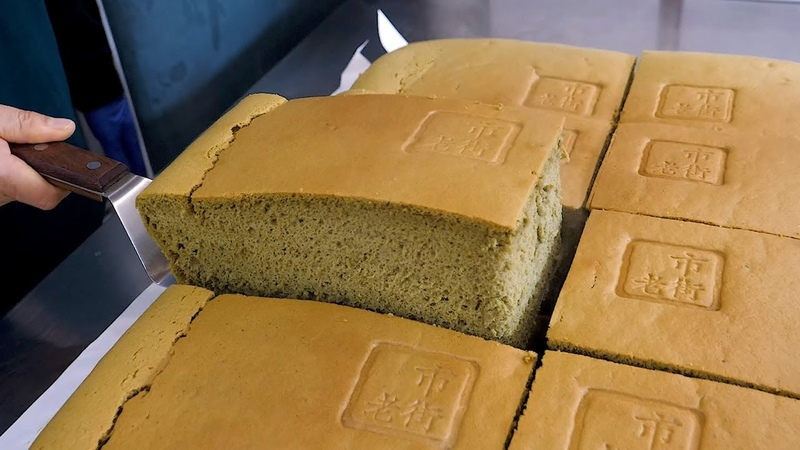 Making Giant Size Cake Original Cream Cheese Green tea Jiggly Cake Korean street food