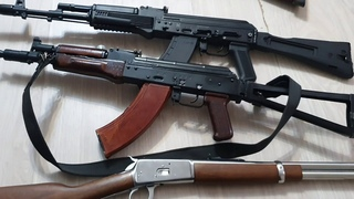 Микро обзор на оружие. Ланкастер 04  366ткм, сайга х39, Winchester 1892, Remington 870