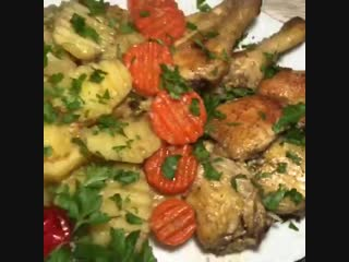 Курица с овощами в рукаве - супер блюдо! - Личный повар