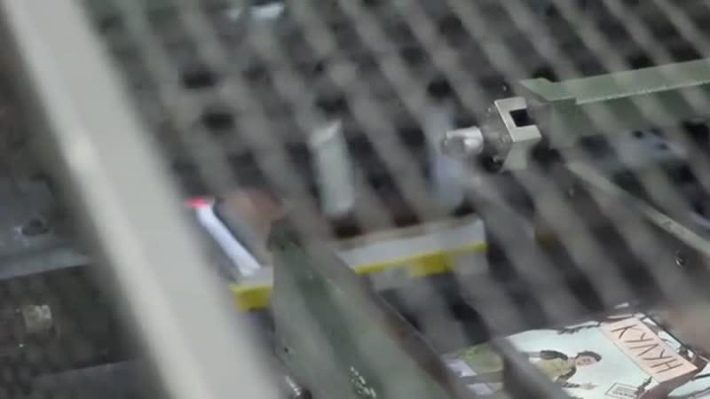 Процесс печати манги📝 одна из самых лучших частей работы☺ т к уже все готово и остается только залипать как проходит печать 📇