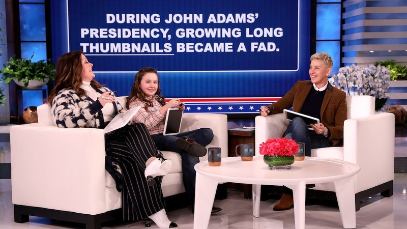 Melissa McCarthy, Macey Hensley, and Ellen Play Hail to the Blank