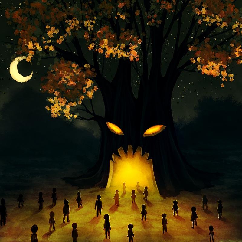 🎃 Истории о чудовищном, наполненном злом, проклятом дереве, - будь то дерево вис...