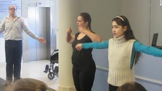 Йога для ВОИ - волонтеры Надежда Кабанова и Татьяна Тихонова