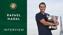 Rafael Nadal I Интервью в честь тринадцатой победы на грунтовых кортах Парижа