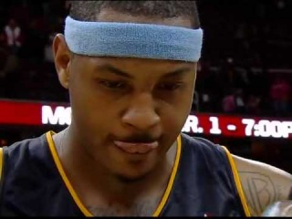 Lebron James vs carmelo anthony 2010 (Lebron crying after missing the final shot)