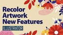 Recolor artwork in illustrator 2021 New Features