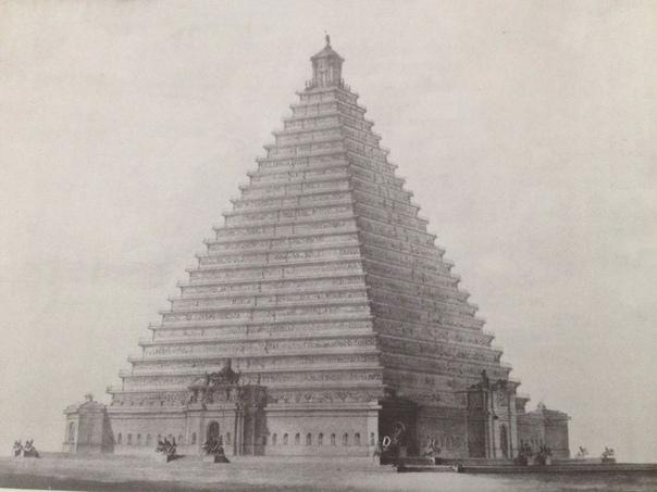Не случившийся Лондон. На месте будущей Трафальгарской площади в 1820-е годы хотели возвести военный монумент, пирамиду высотой 110