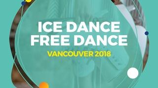 Arina Ushakova  / Maxim Nekrasov (RUS) | Ice Dance Free Dance | Vancouver 2018